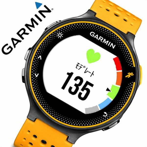 ガーミン 腕時計[GARMIN 時計]ガーミン 時計[GARMIN 腕時計]フォーアスリート 235J ブラックオレンジ  ForeAthlete 235J Black Orange ユニセックス/液晶 010-03717-6J[正規品/GPS/ペアウォッチ/アウトドア/スポーツ/ラバー/ブラック/オレンジ][送料無料]