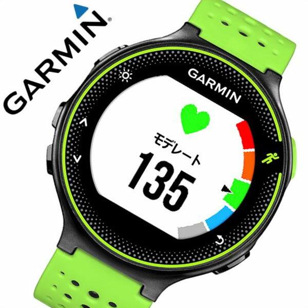 ガーミン 腕時計[GARMIN 時計]ガーミン 時計[GARMIN 腕時計]フォーアスリート 235J ブラックグリーン  ForeAthlete 235J Black Green ユニセックス/液晶 010-03717-6K[正規品/GPS/ペアウォッチ/スポーツ/カレンダー/ラバー/ブラック/グリーン][送料無料]