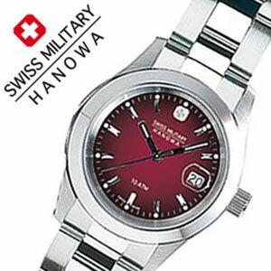 【5年保証対象】スイスミリタリーハノワ 腕時計[SWISSMILITARYHANOWA 時計]スイス ミリタリー ハノワ 時計[SWISS MILITARY HANOWA 腕時計]エレガント ELEGANT レディース/ボルドー ML-182[正規品/人気/スイス/防水/メタル/シルバー/カレンダー][送料無料]