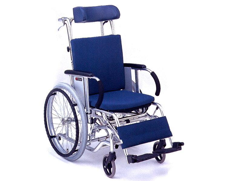 マイチルト車椅子 自走式 MH-1SR ティルト&リクライニングタイプ(転倒防止パイプ付) 松永製作所 【smtb-kd】【RCP】【介護用品】