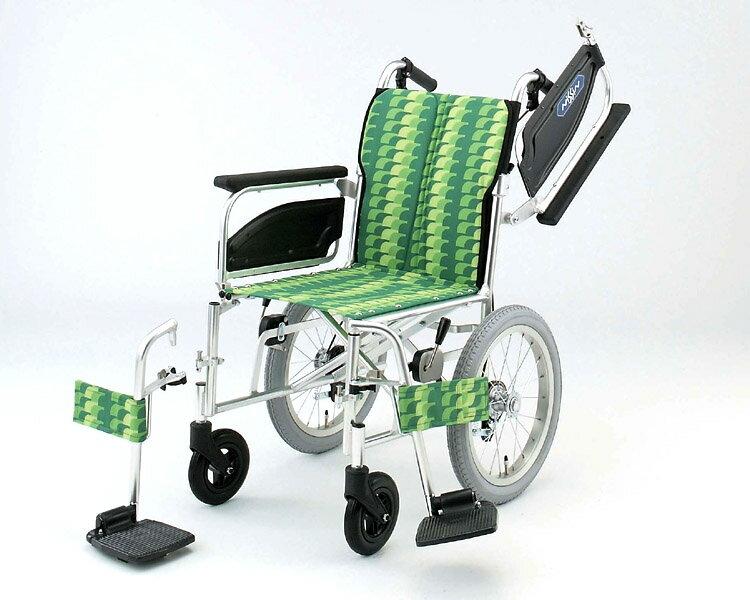 アルミ介助式車椅子 NAH-446W アームレスト跳ね上げ脚部開閉着脱 日進医療器 【smtb-kd】【RCP】【介護用品】