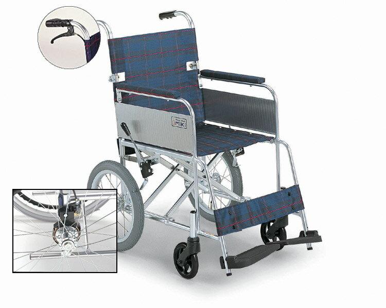 アルミ介助式車椅子 MC-43KDB (介助ブレーキ付) 超軽量 ミキ 【smtb-kd】【RCP】【介護用品】