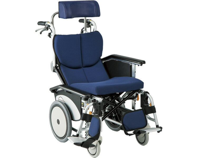リクライニング車椅子 オアシスポジティブ OS-12TRSP ストレート金具 N-2(紺ニット)シート 松永製作所送料無料 車椅子 車いす 車イス リクライニング 歩行補助 介護用品