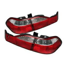【スパイダー (ライト)】( Spyder ) Honda Accord 98-00 4ドア ユーロスタイル テールライト - レッドクリア