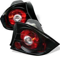 【スパイダー (ライト)】( Spyder ) Honda Civic 01-03 2ドア ユーロスタイル テールライト - ブラック