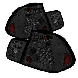 熱い販売のための 【スパイダー (ライト)】( Spyder ) BMW E46 3-Series 02-05 4ドア ( does not include red fog light bulb) テールライト - スモーク