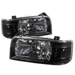 人気商品セール 【スパイダー (ライト)】( Spyder ) Ford F150 92-96 / Ford Bronco 92-96 1PC LED ( 交換可能 LEDs ) クリスタルヘッドライト - ブラック