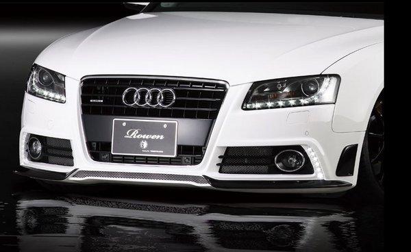 �Audi A5 8T/B8 | ロエン / トミーカイラ】AUDI A5 SPORTBACK Rowen フロント�ンパー用フロントリップス�イラー FRP製