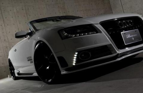 �Audi A5 8T/B8 | ロエン / トミーカイラ】AUDI A5 クーペ/カブリオレ Rowen フロント�ンパー用フロントリップス�イラー FRP製