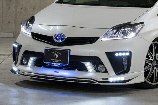 �30 プリウス | ロエン / トミーカイラ】プリウス ZVW30 後期 RR ECO-SPORTS Edition フロントス�イラー LED�� FRP+カーボン製 未塗装�