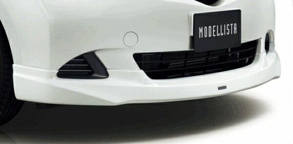 【CP120 ラクティス   トヨタモデリスタ】ラクティス CP120 MODELLISTA for レピス フロントスポイラー メーカー塗装品 ホワイトパールクリスタルシャイン