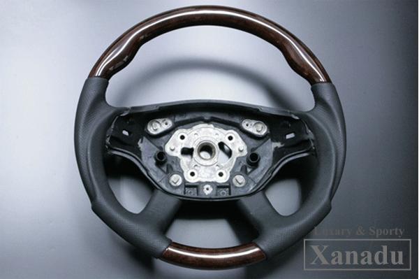 【アベスト】[XANADU]W221(Sクラス)前期 ウッド コンビ ハンドル スポーツタイプ