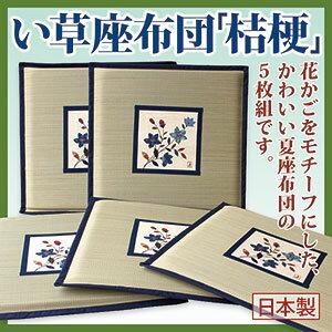 『い草座布団「桔梗」5枚組』(メーカーより直送となります。代引不可)インテリア 座ぶとん 敷物 雑貨 い草座布団送料無料ポイント欠品終了の場合は連絡します。10P03Dec16