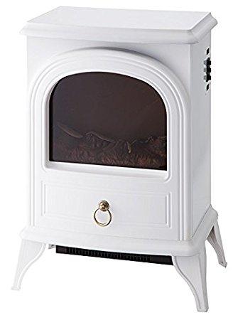 【大感謝価格 】ノスタルジア 暖炉型ヒーター CHT-1540 ホワイト/ブラック