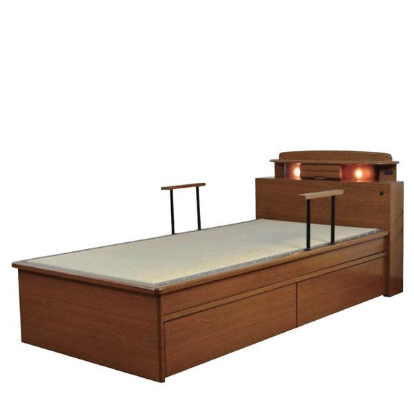 畳ベッド シングルベッド ベット ベッド 宮付き 収納機能付きベッド ベッドフレーム 木製 引き出し収納付き マットレス別売りです 楽天 通販 送料無料