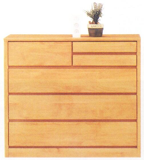 チェスト タンス ローチェスト 幅100cm 4段 木製 自然塗装 シンプル ナチュラル 完成品 アルダー材 楽天 通販 送料無料