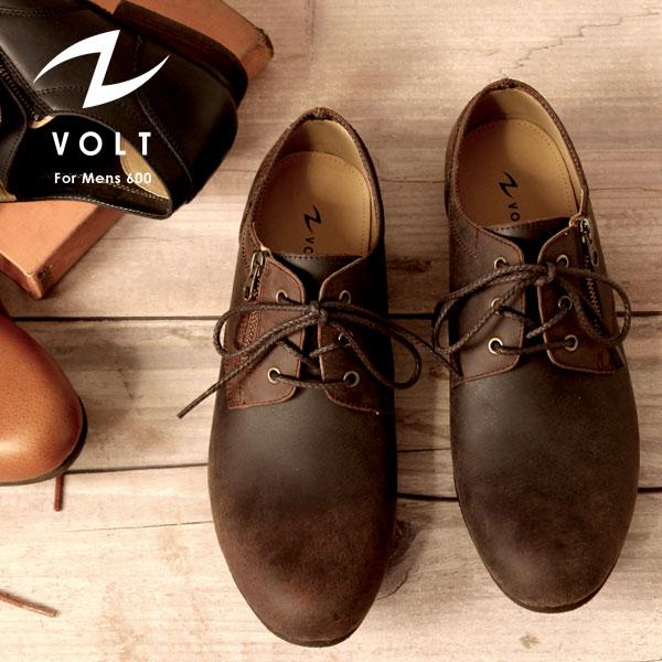 VOLT/ヴォルト VOLT600 ソフトカウレザー サイドジップ オックスフォード