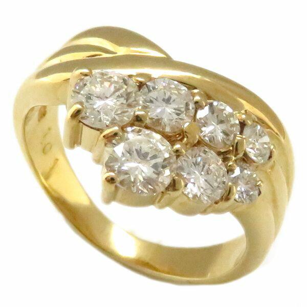指輪 ダイヤモンド1.01ct リング 10号 K18YG/62944【中古】【クリーニング済】