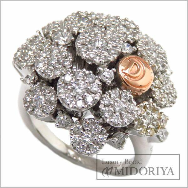 ダミアーニ リング Damiani ブーケコレクション 750WG 750PG ダイヤモンド 11号 18金ホワイトゴールド ピンクゴールド 指輪/94538【中古】【クリーニング済】