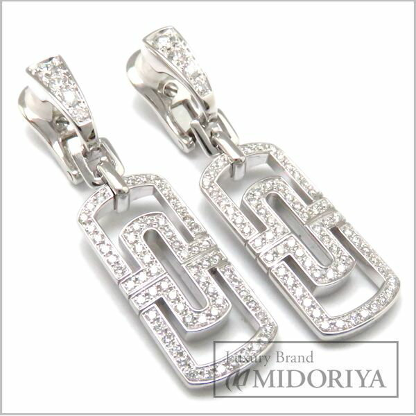 ブルガリ BVLGARI パレンテシピアス ダイヤモンド 750WG 18金ホワイトゴールド/95640【中古】【クリーニング済】