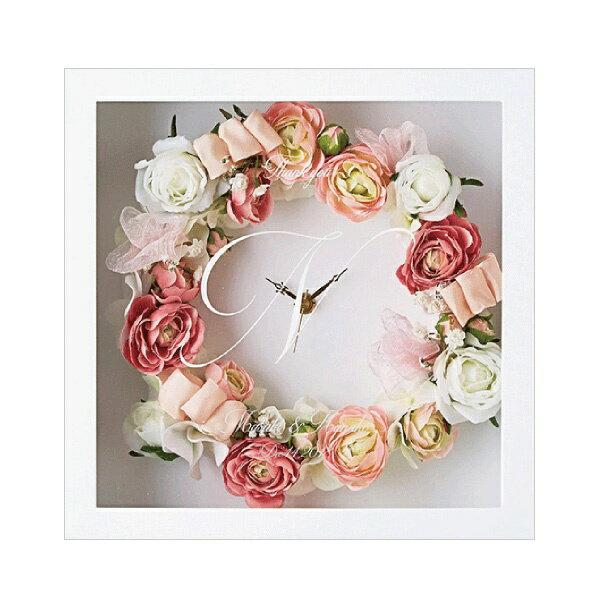 【送料無料】【25%OFF!】エレガントリースクロック(シュガーローズ)両親プレゼント プレゼント 結婚式 親ギフト お祝い 披露宴 ウェディング ご両親贈呈アイテム 時計 記念品
