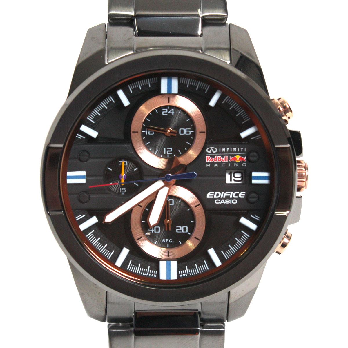 【送料無料】CASIO カシオ 腕時計 EFR-543RBM-1ADR EDIFICE エディフィス クロノグラフ ブラック×ガンメタル 海外モデル