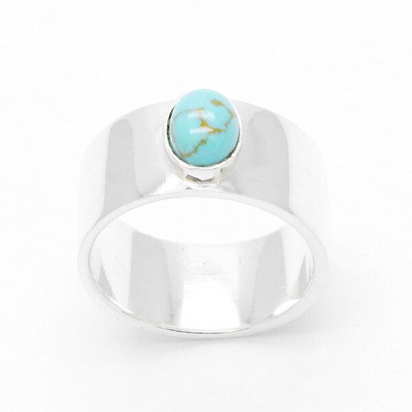 リング 指輪 ユニセックス 天然石 ターコイズ シルバー925 ターコイズ お兄系 アメカジ バイカー インディアン ネイティブアメリカン 送料無料