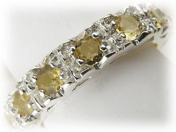 シトリン 黄水晶 リング シルバー925 ARJ-043-CT-9号