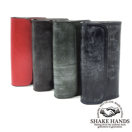 【SHAKE HANDS】シェイクハンズ SHLW-QUA-BRIDLE/ブライドルレザーフラップロングウォレット/レザー/本革/長財布