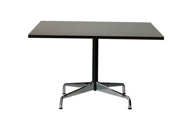 ■送料無料■新品■イームズ コントラクトベーステーブル コントラクトテーブル イームズテーブル アルミナムテーブル  カフェテーブル W120×D120×H74 cm スクエア■ウォールナット ST