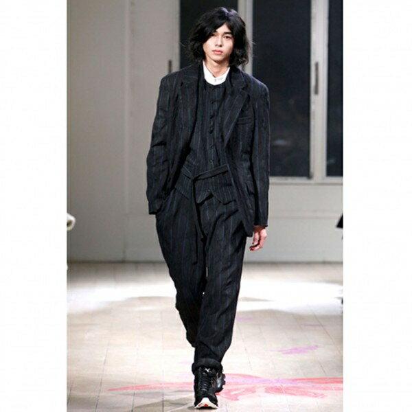 ヨウジヤマモトプールオムyohji yamamoto pour homme×アディダスadidas X BOUNCE スニーカー 黒27.5【中古】