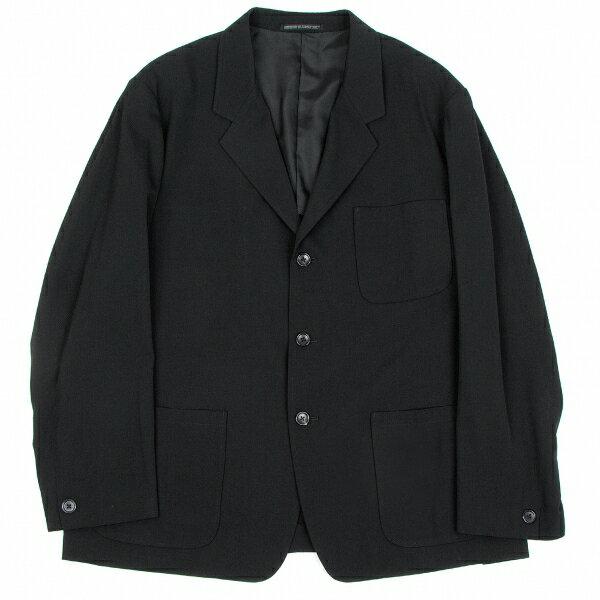 ヨウジヤマモト プールオムYohji Yamamoto POUR HOMME ウールギャバ3Bジャケット 黒M【中古】