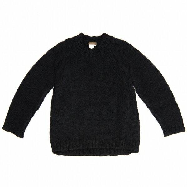 最新の流行 ワイズフォーメンY's for men ウールローゲージハンドニットセーター 黒3【中古】