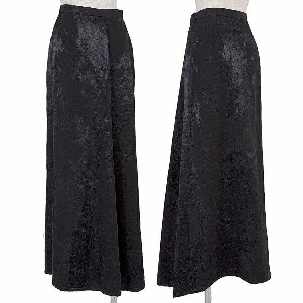 ジャンポールゴルチエ クラシックJean Paul GAULTIER CLASSIQUE ムラ織りウールレーヨンスカート 黒40【中古】