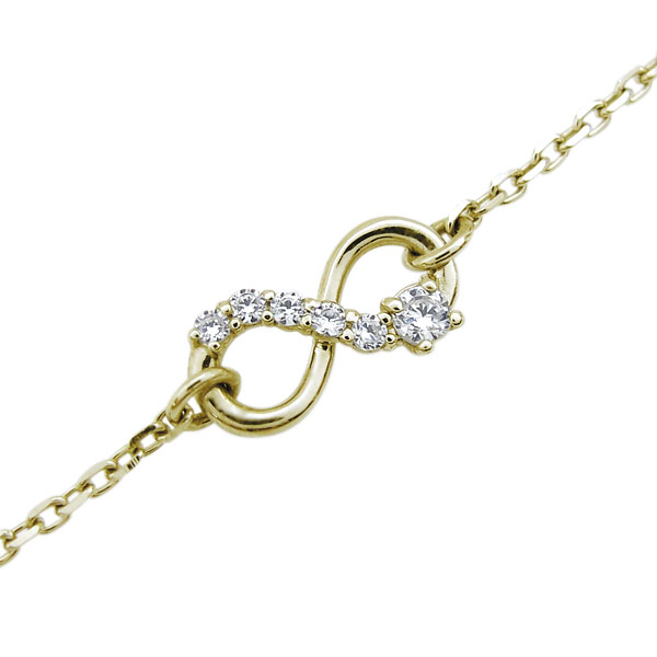 【送料無料】ダイヤモンド ブレスレット インフィニティ ブレス 無限 18金【RCP】10P06Aug16