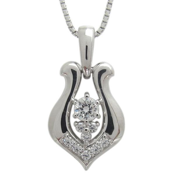 【送料無料】プラチナ メンズ 馬蹄ネックレス ダイヤモンド ペンダント【RCP】10P06Aug16