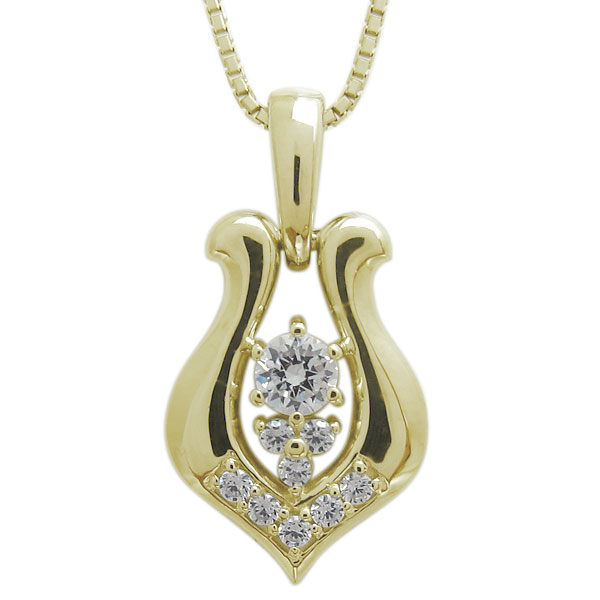 【送料無料】ホースシューネックレス 18金 馬蹄 メンズ ダイヤモンド ペンダント【RCP】10P06Aug16