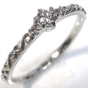 【送料無料】ダイヤモンド・リング・18金・ピンキーリング・指輪・ダイヤリング【RCP】10P06Aug16