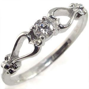 【送料無料】K18・ダイアモンド・リング・一粒・指輪・ハート【RCP】10P06Aug16