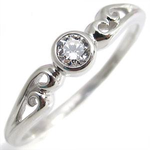 【送料無料】指輪・18金・シンプル・リング・ダイヤモンド・一粒・K18・ダイアモンドリング【RCP】10P06Aug16