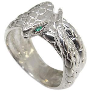 スネーク・メンズリング・エメラルド・ヘビ・蛇・指輪【RCP】10P06Aug16