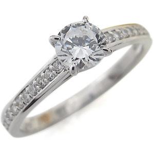 【送料無料】プラチナ・ハーフエタニティ・婚約指輪・ダイヤモンド・リング【RCP】10P06Aug16