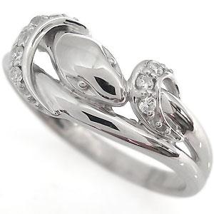 【送料無料】ダイヤモンド 指輪 シンプル リング K18 スネークリング【RCP】10P06Aug16