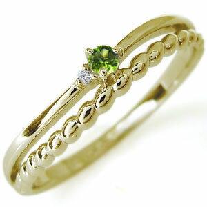 【送料無料】指輪・18金・リング・天然石・ピンキーリング・一粒【RCP】10P06Aug16