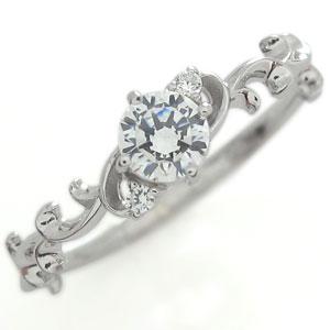 【送料無料】鑑定書 ダイヤモンド エンゲージリング K18 VVSクラス ダイヤモンド 婚約指輪【RCP】10P06Aug16