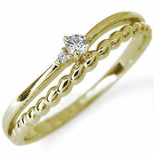 【送料無料】ダイヤモンド 一粒 指輪 18金 リング ピンキーリング【RCP】10P06Aug16