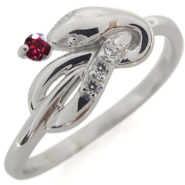 【送料無料】プラチナ ファランジリング ルビー ヘビ 指輪 ピンキー【RCP】10P06Aug16