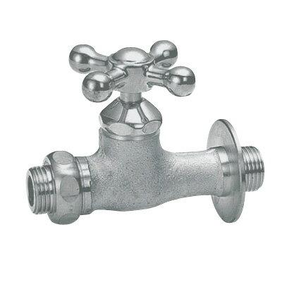 蛇口 Fシリーズ 補助蛇口 クロス ベロアメッキ 立水栓向け飾り蛇口 送料無料