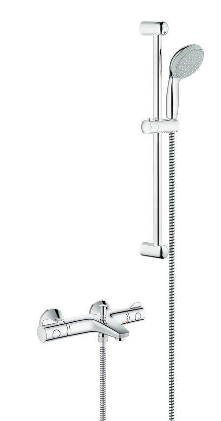 大洋金物 T-form サーモスタッドバス・シャワー混合栓 FHT73-3034 クローム