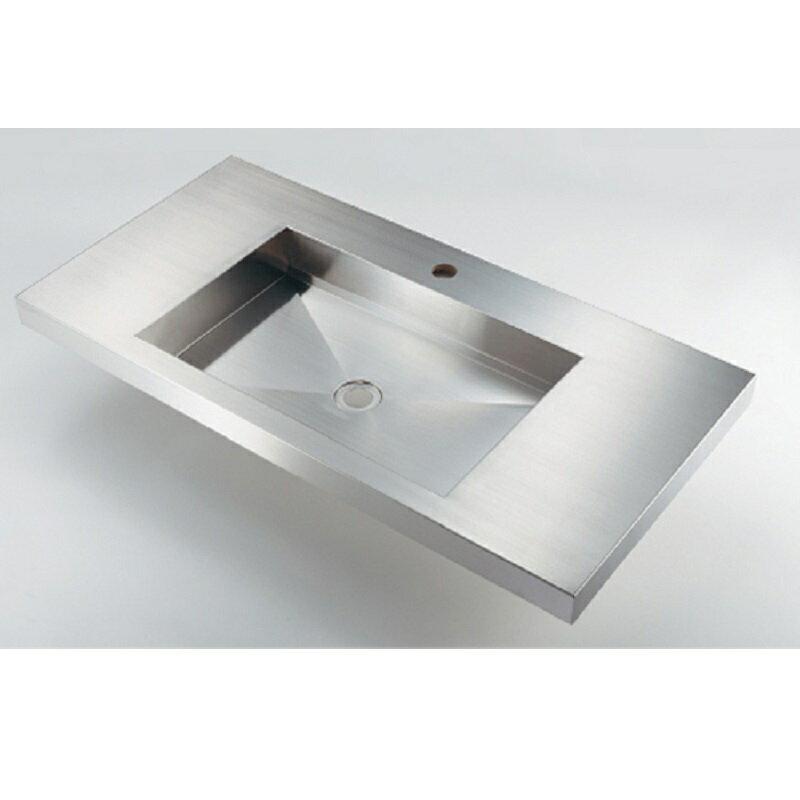 角型洗面器 493-164 ステンレス製 水栓 住宅設備 水廻り 金具 カクダイ KAKUDAI 吉KD